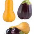 Stock Photo: Set of vegetables isolated on white