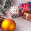 Stock Photo: Christmas decoration with gifts