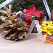 Christmas decoration with gifts — Stock Photo #14375657