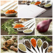 Set of various spices and food ingredients — 图库照片