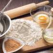 Baking ingredients background — Stock Photo