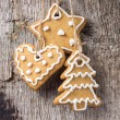 Christmas decoration. Gingerbread Cookies Hanging — Stock Photo