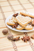 Christmas gingerbread cookies with spices — Stock Photo