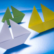 Concept paper navy. Origami model of ships — Stock Photo #47682855