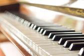 Keyboard of piano — Stock Photo