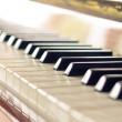 Keyboard of piano. Close up warm color toned image — Stock Photo #51198357