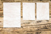 Recipe background. Blank paper sheet on wooden table. — Stock Photo