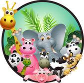 Wild African animal cartoon — Stock Vector