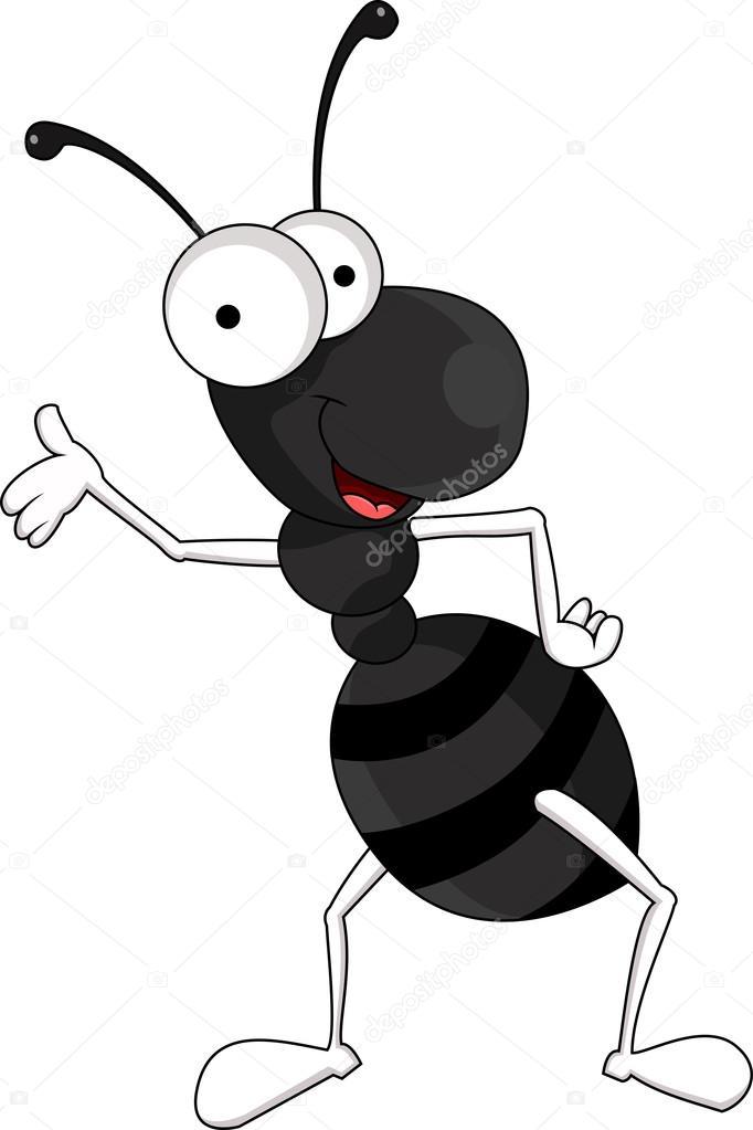 Funny black ant cartoon — Stock Vector © starlight789 ...
