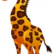 Funny giraffe cartoon — Grafika wektorowa
