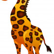 Funny giraffe cartoon — Image vectorielle
