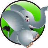 有趣的大象卡通 — 图库矢量图片