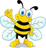 Happy bee cartoon — Stock Vector
