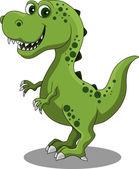 Funny dinosaur cartoon — Stock Vector