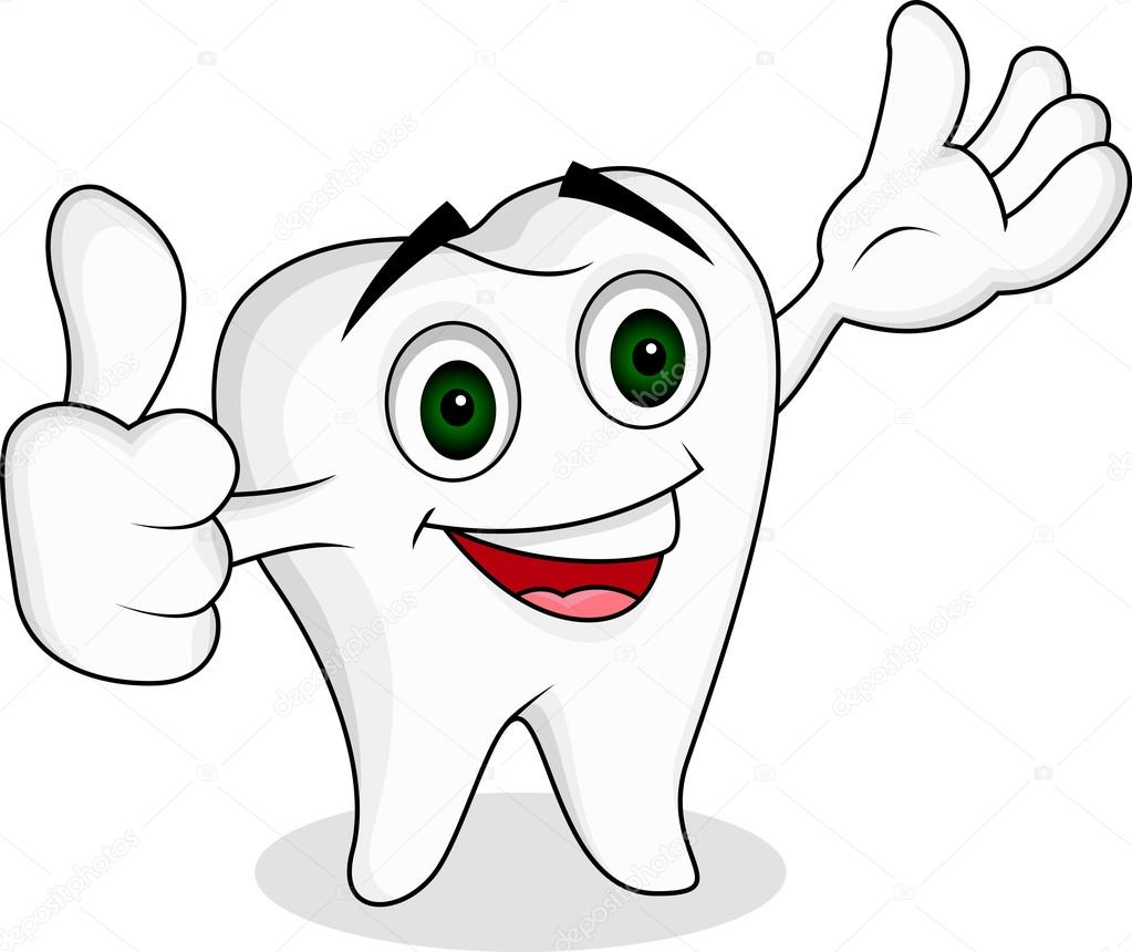 1 Toothed Cartoon Characters : Tooth cartoon character — stock vector starlight