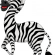 Cute zebra cartoon - Stock Vector
