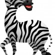 Funny zebra cartoon — 图库矢量图片