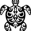 Turtle tattoo tribal — Stock Vector