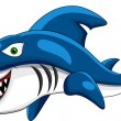 Happy shark cartoon - Stock Vector