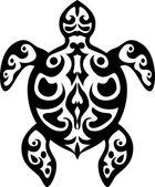 Turtle tattoo tribal — Stock Vector