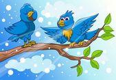 Bird singing — Stock Vector