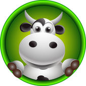 Cute cow head cartoon — Stock Photo