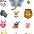 Royalty-Free Stock Vector Image: Cute head animal cartoon collection