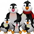 Stock Vector: Happy pinguin family