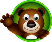 Leuke brown bear cartoon — Stockvector