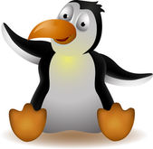 Cute penguin cartoon — Stock Vector