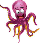 Cute octopus — Stock Vector