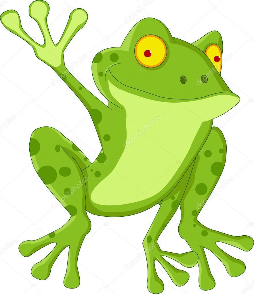 搞笑的青蛙卡通 — 图库矢量图像08