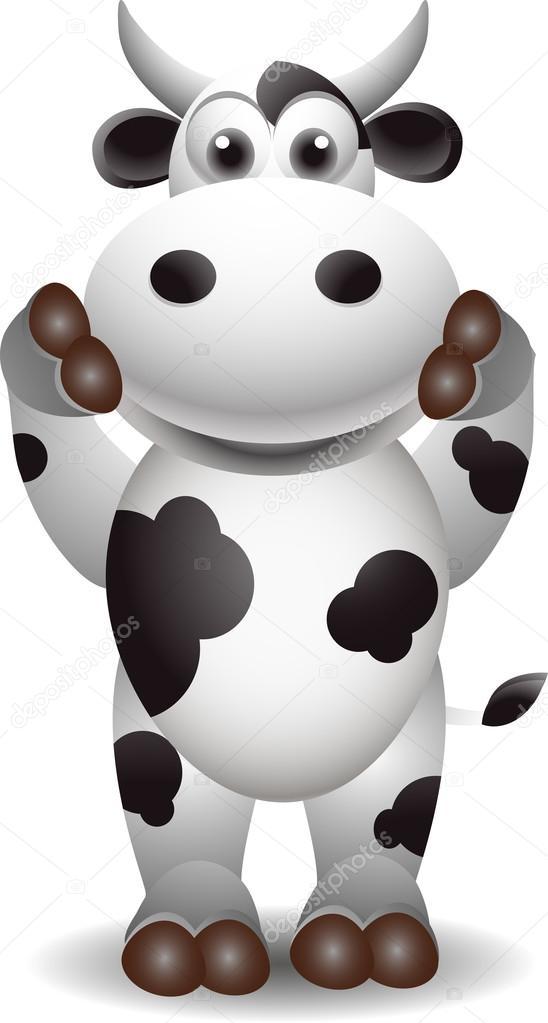 Cartone animato carino mucca — vettoriali stock