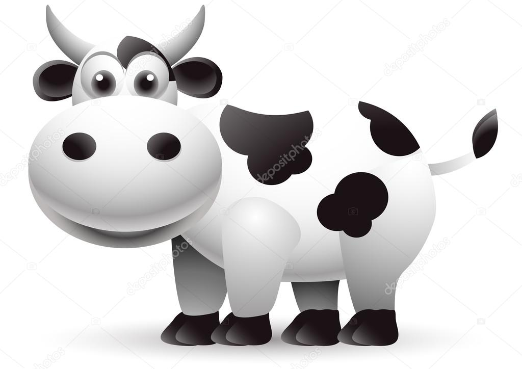 Funny Cow Cartoon Isolated Stock Vector 169 Starlight789