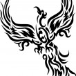 Tattoo Mythical phoenix bird - Stock Vector
