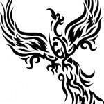 Τατουάζ πουλί μυθικό φοίνικα — αρχείο