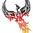 Tattoo Mythical phoenix bird — Stock Vector #12767565