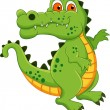 Cute Crocodile Cartoon — Stockvectorbeeld