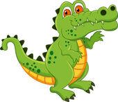 Cute Crocodile Cartoon — Stock Vector