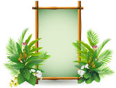 Decoration with tropical plant — Stock Vector