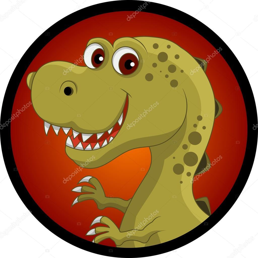 有趣的恐龙头卡通 — 图库矢量图像08
