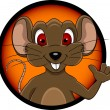 Funny mouse cartoon — Stock Vector