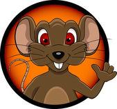 Funny mouse cartoon — Stock Vector