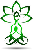 Yoga lotus icon — Stock Vector