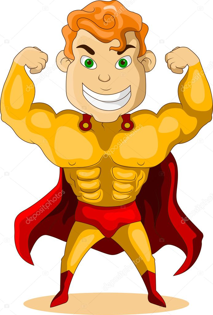 Strong Super Hero — Stock Vector #12842606