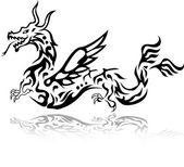Dragon tattoo tribal — Stock Vector