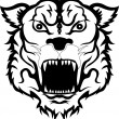 Royalty-Free Stock Vector Image: Tiger head black and white tattoo tribal