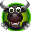 Royalty-Free Stock Vector Image: Cute bull head cartoon