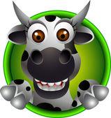Schattige koe hoofd cartoon — Stockvector