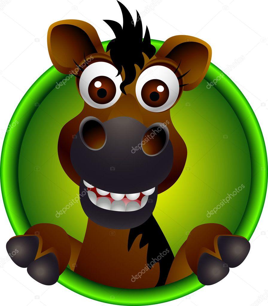 Dessin anim t te de cheval mignon image vectorielle starlight789 13181563 - Tete de cheval dessin ...